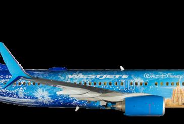 Frozen-themed plane from WestJet