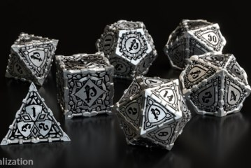 Crowdfunding | Pathfinder & Q-workshop Metal RPG Dice Set