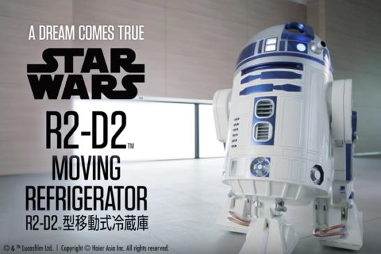 R2-D2 Moving Mini Fridge Trailer