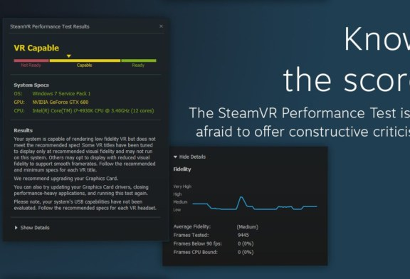 Virtual Reality performance test now available on Steam