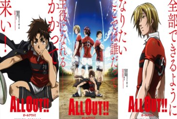 All Out!! Rugby Anime's Visuals and Premiere Date Revealed