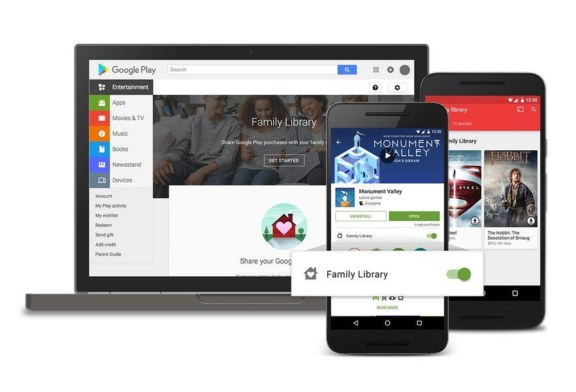 Google Play Family Library is now Available!