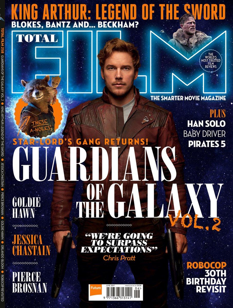 guardians of the galaxy vol 2 covers total film magazine. Black Bedroom Furniture Sets. Home Design Ideas