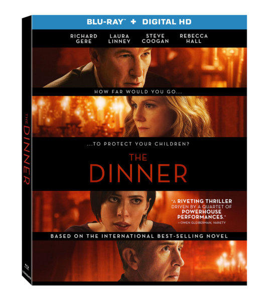 The Dinner Blu-Ray cover (Lionsgate Home Entertainment)