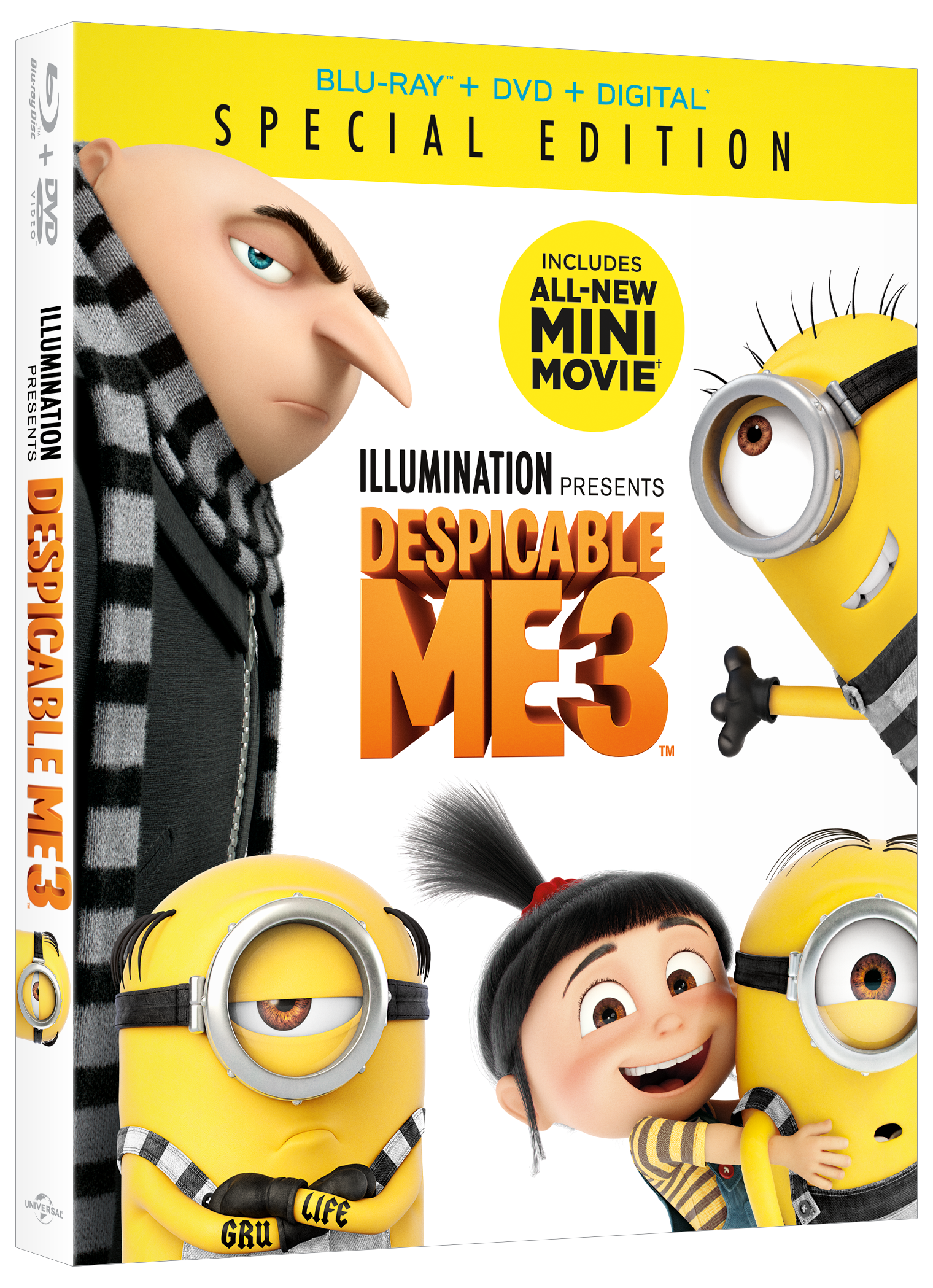 Giveaway Despicable Me 3 Dvd Nothing But Geek