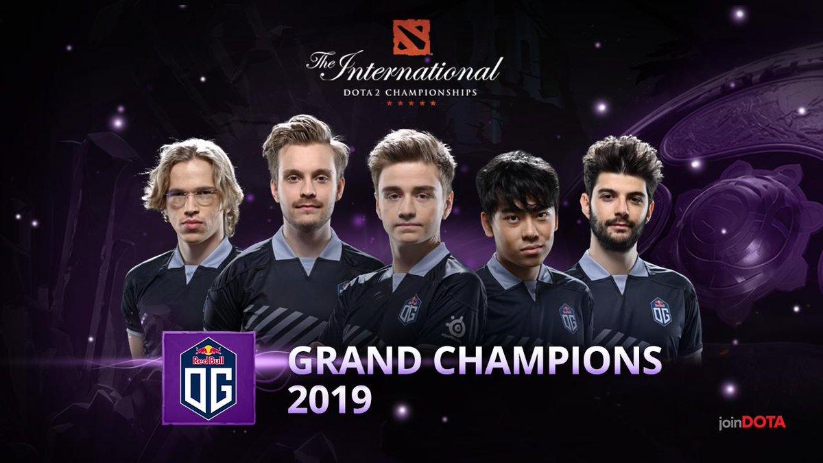 Kết quả hình ảnh cho the international 2019 dota 2 champion